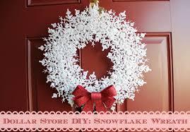 dollar store diy my snowflake wreath