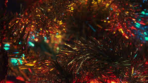 lighted christmas tree garland christmas tree lighted garland in close up istanbul on december 20