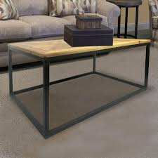 industrial reclaimed wood square coffee table dmt 087 the home depot