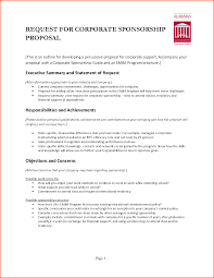 format of request letter to company request letter sle for corporate sponsorship proposal vesnak