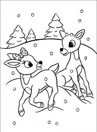 rudolph red nosed reindeer coloring pages clarice