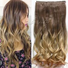 Long Synthetic Hair Extensions by Dip Dye Clip In Long Curly Straight Synthetic 5 16 Clips Ombre