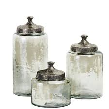 Kitchen Canisters Canada Home Decorators Collection Luster Assorted Sizes Green Glass