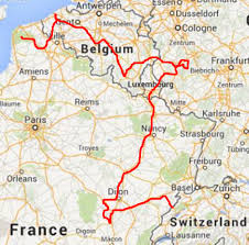 Map Of Luxembourg France To France Via Luxembourg Germany And Belgium