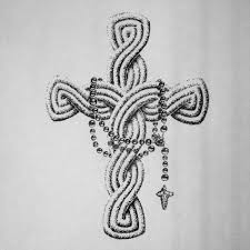 cross drawings with rosary note9 info