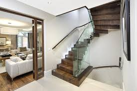 Best Flooring For Stairs Best Flooring For Stairs With Glass Railing And Awesome Interior