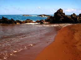 black sand beach hawaii beach sand