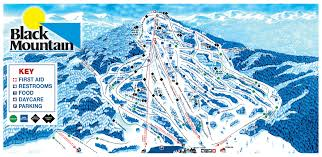 Ski Resorts In Colorado Map by Black Mountain Piste Maps