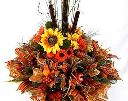 fall centerpiece etsy