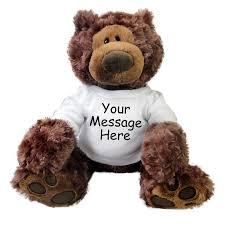 engraved teddy bears personalized teddy gund chocolate philbin mandys