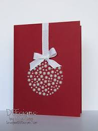 handcrafted christmas card tree of punched hearts olive
