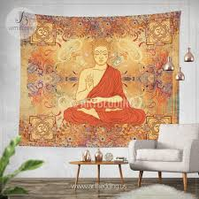 boho tapestry sacred yantra wall tapestry hippie tapestry wall
