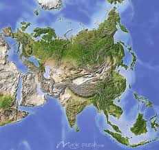 Relief Map Relief Map Of Asia Wallpaper Murals At Magicmurals Com