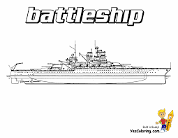 submarine and warship coloring page in battleship coloring page