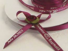 personalized wedding ribbon special event favours and packaging adventures with all things