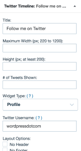 membuat widget twitter di website twitter timeline widget support wordpress com