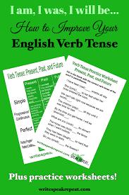 english verb tense explained past present future write speak