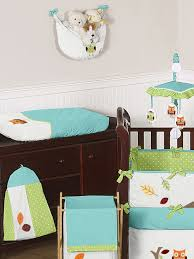 Boy Owl Crib Bedding Sets Turquoise And Lime Hooty Owl Baby Bedding 9 Pc Crib Set Only 189 99