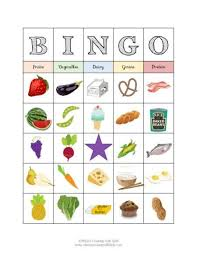 food group bingo nutrition activity for kids nutrition