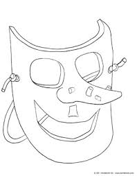 coloring pages halloween masks witch mask coloring page kinderart