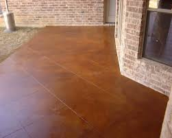 Painted Concrete Porch Pictures by Stained Concrete Reddish Brown New Patio 36 Inch Tile