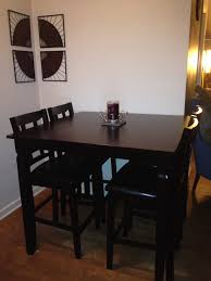 espresso pub table and chairs from big lots works great in our