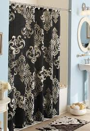 Blue Damask Shower Curtain Damask Print Shower Curtain Pictures Inspiration