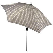Aluminum Patio Umbrellas by Hampton Bay 9 Ft Aluminum Patio Umbrella In Sunbrella Canvas