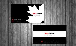Event Business Cards Modern Masculine Business Card Design For Alex Daoust By Mt