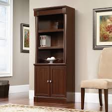 Sauder Bookcase by Office Bookshelves With Doors American Hwy Best Shower Collection
