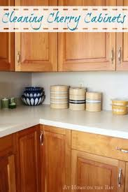 what should you use to clean wooden kitchen cabinets cleaning our cherry cabinets at home on the bay cherry