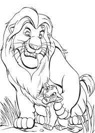 mufasa give simba advise lion king coloring color luna