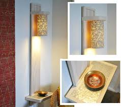 Diy Wall Sconce Diy Wall Lamp Sconce With A Shelf Made With Hand Tools 7 Steps