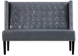 Upholstered Storage Bench With Back Furniture High Back Banquette Seating Curved Banquette Bench