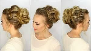 natural hair braided updo hairstyles