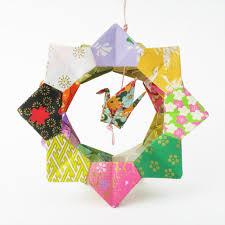 origami ornament crane wheel lavender home