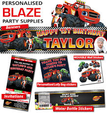 blaze monster machine party banners decorations