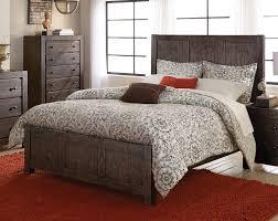 Rustic Pine Nightstand Farrin Dark Rustic Pine Queen Bed For 398 00 Furnitureusa