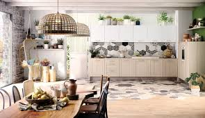 cuisine scandinave une cuisine familiale à l esprit scandinave et végétal modèle bohème