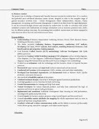 business analysis resume effective responsibilities understanding for business analyst
