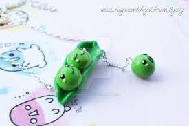peas in a pod charm kawaii peas in a pod polymer clay charm necklace by charmsbyizzy