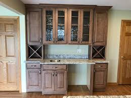 oconomowoc rustic hickory cabinet kitchen remodel