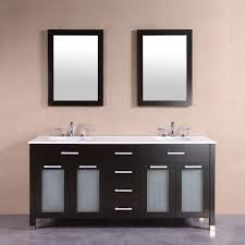 60 in freestanding bathroom vanity set with double mirrors and