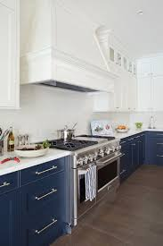 Cabinet Hoods Wood White And Navy Kitchen With White Upper Cabinets And Navy Lower