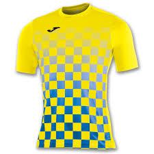Yellow And White Flag S S T Shirt Flag Royal Blue Yellow Joma