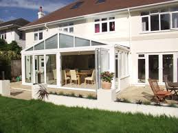 small victorian conservatory kitchen extension pitched roof