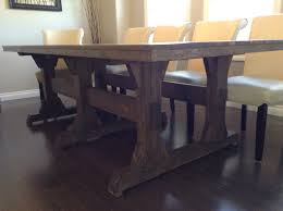leave it joy triple pedestal wide farmhouse table