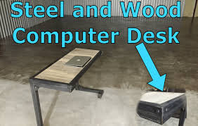 Computer Tables And Desks by Custom Furniture Steel Wood Industrial Computer Desk Dallas