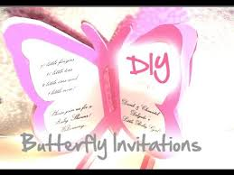 diy baby shower wedding butterfly invitations