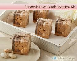 rustic wedding favors what s hot in wedding favors hearts in rustic favor box kit